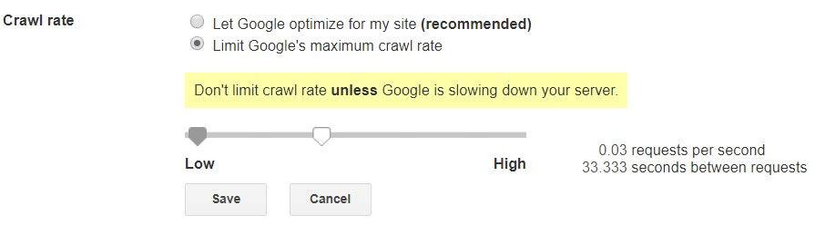 سرعت کرال کردن گوگل بات